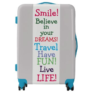 Colorful Positive Inspiring Words Suitcase Luggage