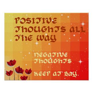 Colorful Positive Thoughts Inspire Poster