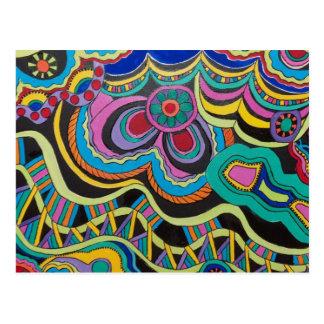 Colorful postcard postcards