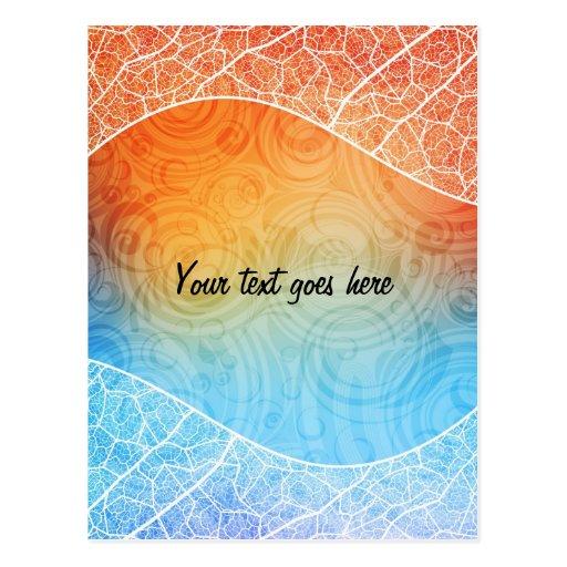 Colorful postcard
