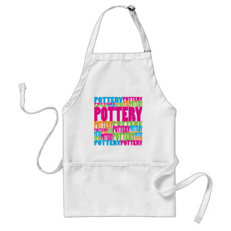 Colorful Pottery Adult Apron