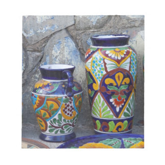 Colorful pottery for sale in downtown Loreto, Note Pad