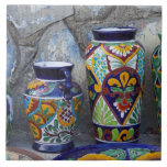 Colorful pottery for sale in downtown Loreto, Ceramic Tiles