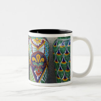 Colorful pottery for sale in downtown Loreto, Two-Tone Coffee Mug