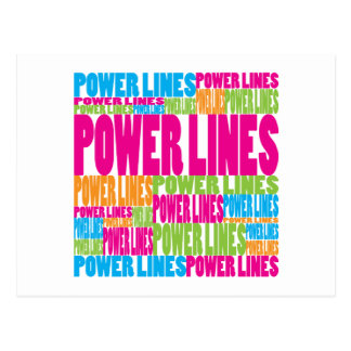 Colorful Power Lines Postcard