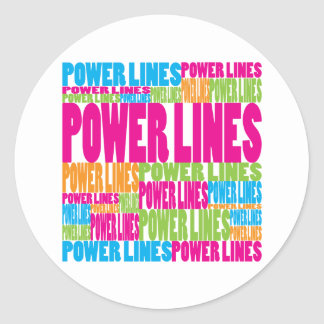 Colorful Power Lines Sticker