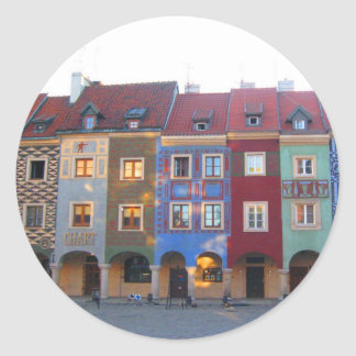 Colorful Poznan Classic Round Sticker