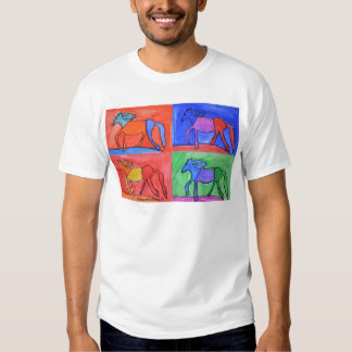 Colorful prancing horses t-shirt