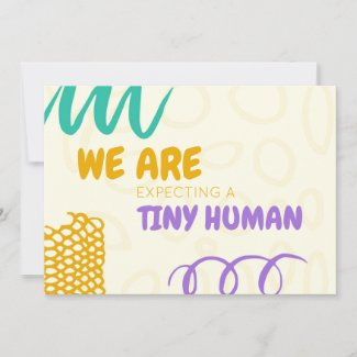 Colorful Pregnancy Announcement Card