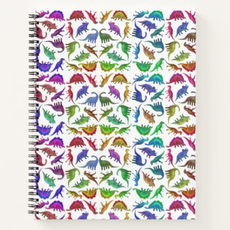 Colorful Prehistoric Dinosaurs Notebook