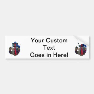 Colorful Primary Colored Slides Playground Equipme Bumper Stickers