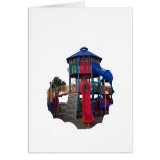 Colorful Primary Colored Slides Playground Equipme Card