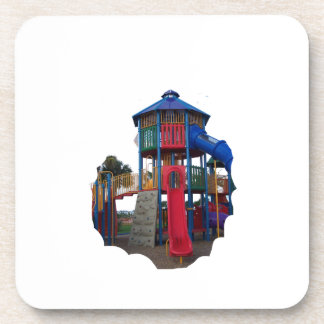 Colorful Primary Colored Slides Playground Equipme Drink Coaster