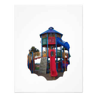 Colorful Primary Colored Slides Playground Equipme Custom Invitations
