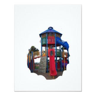 Colorful Primary Colored Slides Playground Equipme Custom Invitations