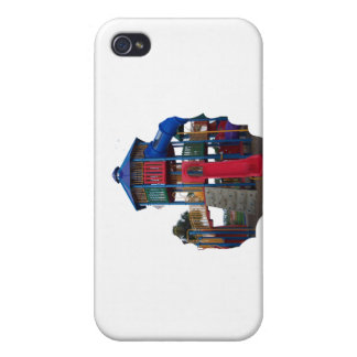 Colorful Primary Colored Slides Playground Equipme iPhone 4 Covers