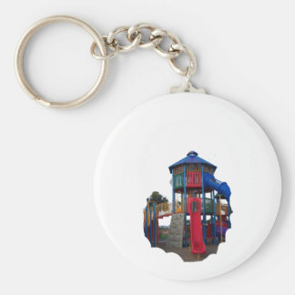 Colorful Primary Colored Slides Playground Equipme Key Chains