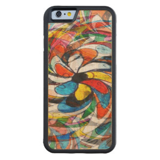 Colorful Primary Floral Abstract Carved Maple iPhone 6 Bumper Case