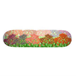 Colorful Primrose Garden Skateboard