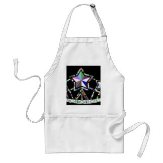 Colorful princess crown made of beads and stars adult apron