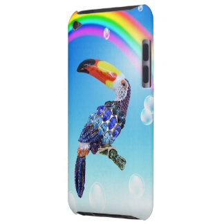 Colorful Printed Toucan Jewel & Rainbow iPod Touch Case