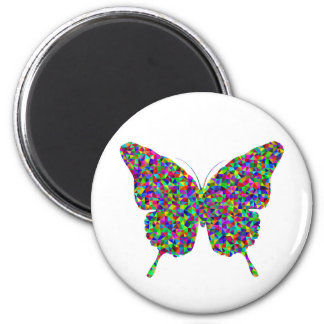 Colorful Prismatic Butterfly with Open Wings Magnet