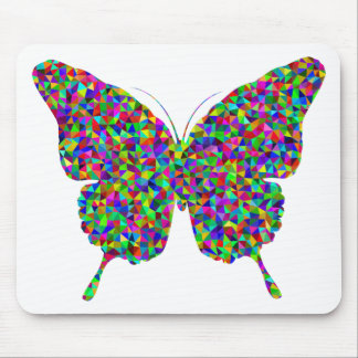 Colorful Prismatic Butterfly with Open Wings Mouse Pad