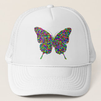 Colorful Prismatic Butterfly with Open Wings Trucker Hat