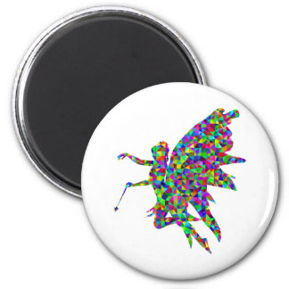 Colorful Prismatic Fairy Holding Out a Wand Magnet