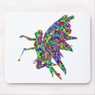Colorful Prismatic Fairy Holding Out a Wand Mouse Pad