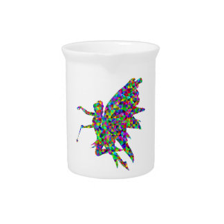 Colorful Prismatic Fairy Holding Out a Wand Pitcher