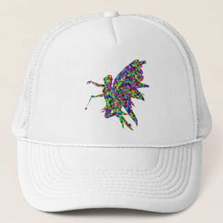 Colorful Prismatic Fairy Holding Out a Wand Trucker Hat