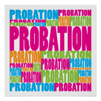 Colorful Probation Poster