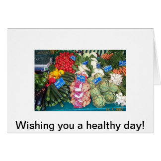 Colorful produce at the market, Wishing you a h... Card