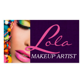 Colorful Professional Makeup Artist Card