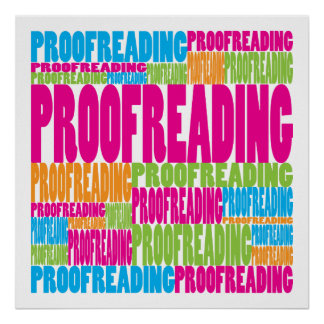 Colorful Proofreading Poster