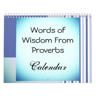 Colorful Proverbs Words of Wisdom Calendar