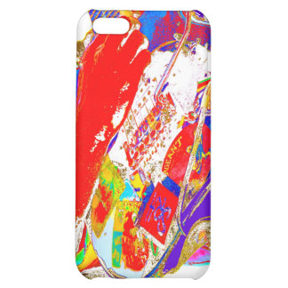 colorful psychadelic guitar player iPhone 5C cover