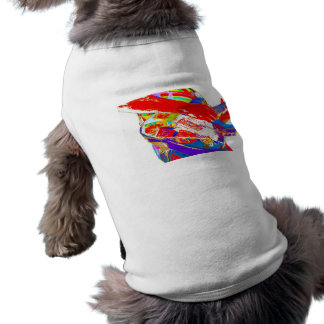 colorful psychadelic guitar player pet tshirt