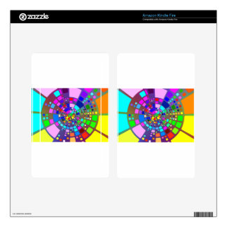Colorful psychedelic #2 decals for kindle fire