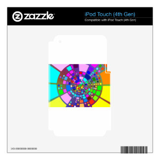 Colorful psychedelic #2 iPod touch 4G decal