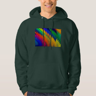 Colorful Psychedelic Abstract Fractal Art Hoodie