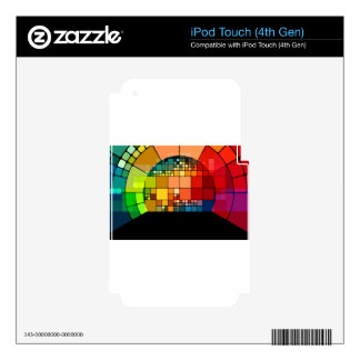 Colorful psychedelic decal for iPod touch 4G