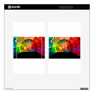 Colorful psychedelic decal for kindle fire