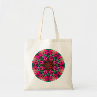 Colorful Psychedelic Dreamy Mandala Tote Bag