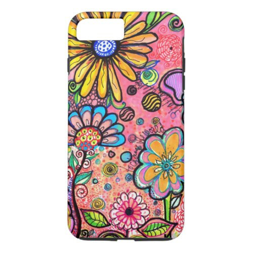 Colorful Psychedelic Flower Drawing iPhone 8 Plus7 Plus Case