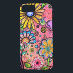 "Colorful Psychedelic Flower Drawing iPhone 8/7 Case<br><div class=""desc"">This cute case features a super creative artistic paychedelic flower pattern. This design is super unique. Please feel free to customize all the options,  as you wish.</div>"