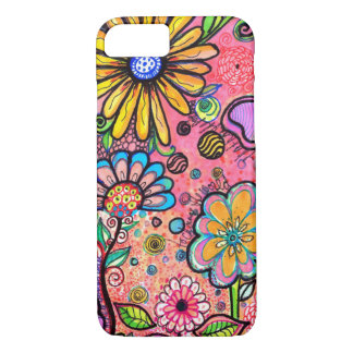 Colorful Psychedelic Flower Drawing iPhone 8/7 Case