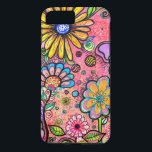 "Colorful Psychedelic Flower Drawing iPhone 8 Plus/7 Plus Case<br><div class=""desc"">This cute case features a super creative artistic paychedelic flower pattern. This design is super unique. Please feel free to customize all the options,  as you wish.</div>"