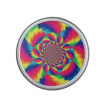 Colorful Psychedelic Fractal Pattern Speaker